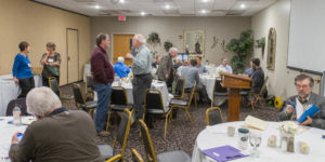 People talking at the 2017 Crossing seminar